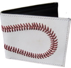 Baseball Wallet made from real Baseball leather